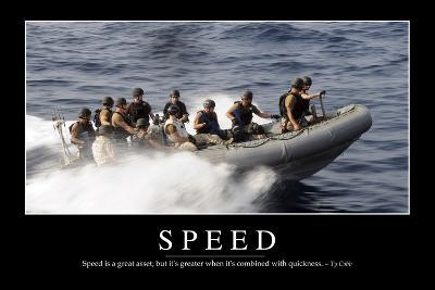 Speed: Inspirational Quote and Motivational Poster--Photographic Print