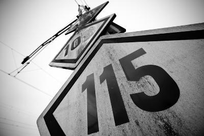 Speed Limit Railway Signpost-ABB Photo-Art Print