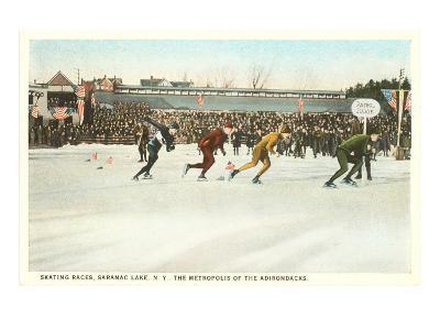 Speed Skating Races, Saranac Lake, New York--Art Print