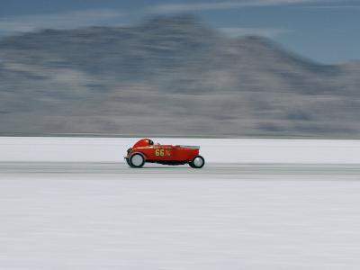 Speed Trials on the Bonneville Salt Flats-Walter Meayers Edwards-Photographic Print