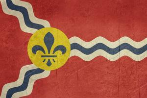 Grunge City Flag Of St Louis City In Missouri In The U.S.A by Speedfighter