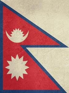 Grunge Sovereign State Flag Of Country Of Nepal In Official Colors by Speedfighter