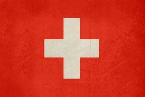 Grunge Sovereign State Flag Of Country Of Switzerland In Official Colors. F by Speedfighter