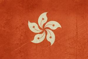 Grunge Sovereign State Flag Of Dependent Country Of Hong Kong In Official Colors by Speedfighter