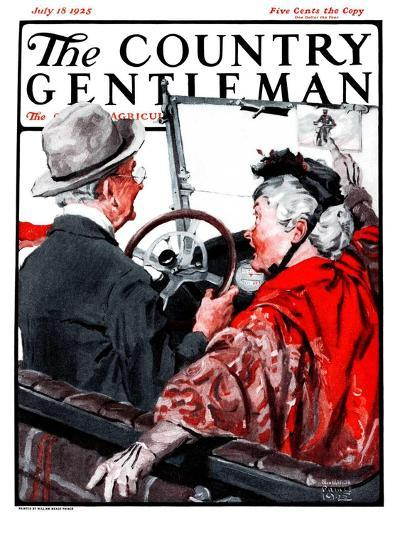 """""""Speeding Oldsters,"""" Country Gentleman Cover, July 18, 1925-William Meade Prince-Giclee Print"""