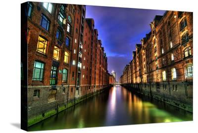 Speicherstadt Hamburg Germany--Stretched Canvas Print
