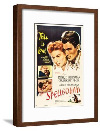 Spellbound, Ingrid Bergman, Gregory Peck on poster art, 1945