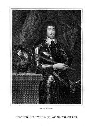 Spencer Compton, 2nd Earl of Northampton, Royalist Soldier-TA Dean-Giclee Print