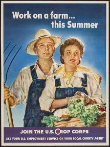 Work On A Farm… This Summer by Spencer Douglass Crockwell