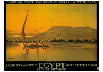 Spend This Winter in Egypt-M^ Tamplough-Art Print