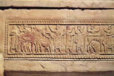 Sperandio Sarcophagus with Travel Scenes--Giclee Print