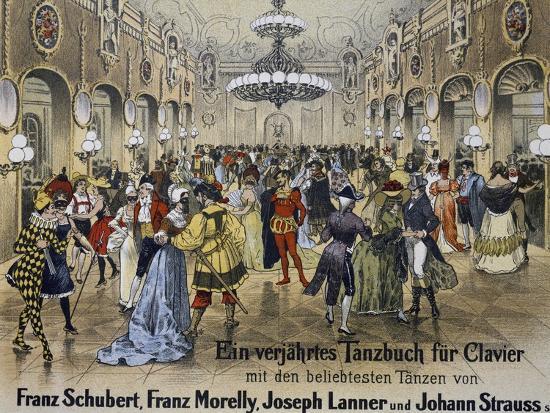 Sperl Saal Dance Hall in Vienna, Print. Austria, 19th Century--Giclee Print
