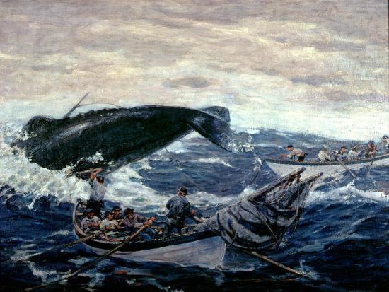 Sperm Whaling Fast Boat Ca. 1900-1930-Clifford Warren Ashley-Giclee Print