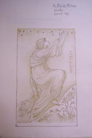 Spes, Illustration on the Flyleaf of 'Utopia' by Thomas More, 1897-Edward Burne-Jones-Giclee Print