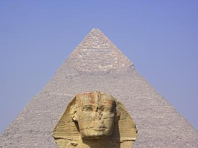 Sphinx and Great Pyramid-Frank Lukasseck-Photographic Print