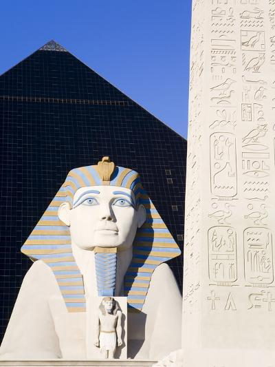 Sphinx and Obelisk Outside the Luxor Casino, Las Vegas, Nevada, USA-Richard Cummins-Photographic Print