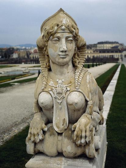 Sphinx at Gardens of Belvedere Palace, 18th Century, Vienna--Giclee Print