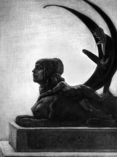 """Sphinx, Illustration from """"Les Diaboliques"""" by Jules Amedee Barbey D'Aurevilly 1874-Felicien Rops-Giclee Print"""