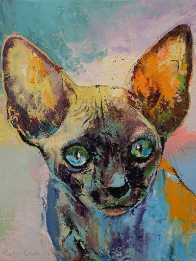 Sphynx Cat Portrait-Michael Creese-Art Print