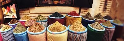 Spice Market Inside the Medina in Marrakesh, Morocco--Photographic Print