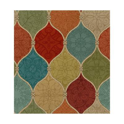 Spice Mosaic Pattern Crop-Daphne Brissonnet-Art Print