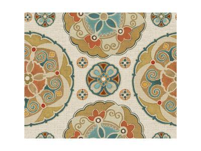 Spice Suzani Patterns I-Daphne Brissonnet-Art Print
