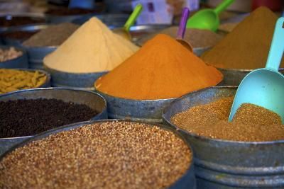 Spices, Fez, Morocco, North Africa, Africa-Neil Farrin-Photographic Print
