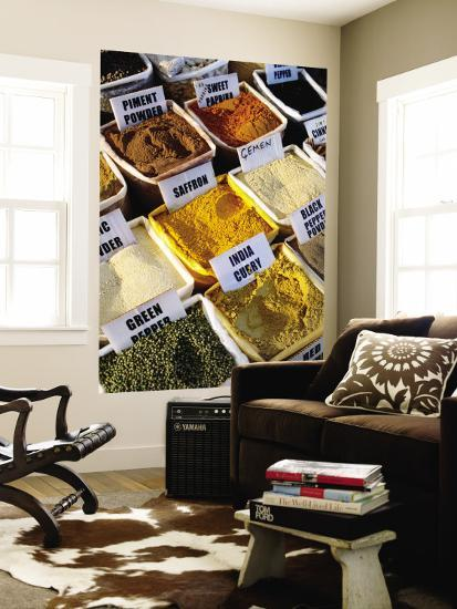 Spices for Sale at Market-Dallas Stribley-Wall Mural