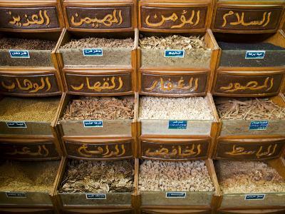 Spices for Sale in the Souq-Al-Atterine Near Khan El-Khalili, Cairo, Egypt-Julian Love-Photographic Print