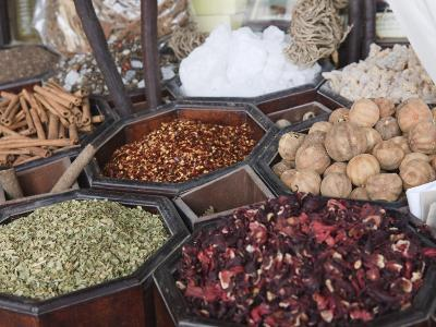 Spices for Sale in the Spice Souk, Deira, Dubai, United Arab Emirates, Middle East-Amanda Hall-Photographic Print