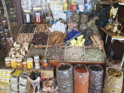 Spices for Sale in the Spice Souk, Deira, Dubai, United Arab Emirates, Middle East-Amanda Hall-Photographic Print