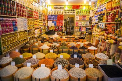 Spices in the Bazaar of Sulaymaniyah, Iraq, Kurdistan-Michael Runkel-Photographic Print