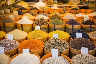 Spices in the Bazaar of Sulaymaniyah. Kurdistan, Iraq-Michael Runkel-Photographic Print