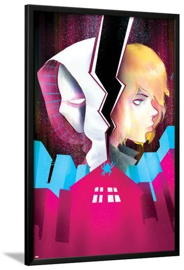 Spider-Gwen #5 Cover Featuring Spider-Gwen, Stacy, Gwen-Robbi Rodriguez-Lamina Framed Poster