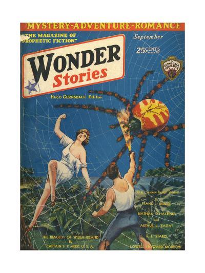 'Spider Island'-Frank R Paul-Giclee Print