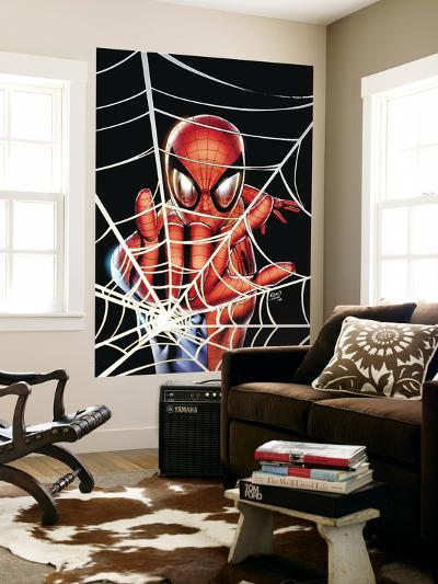 Spider-Man: Brand New Day - Extra!! No.1 Cover: Spider-Man Charging-Greg Land-Wall Mural