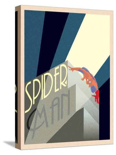 Spider-Man Building--Stretched Canvas Print