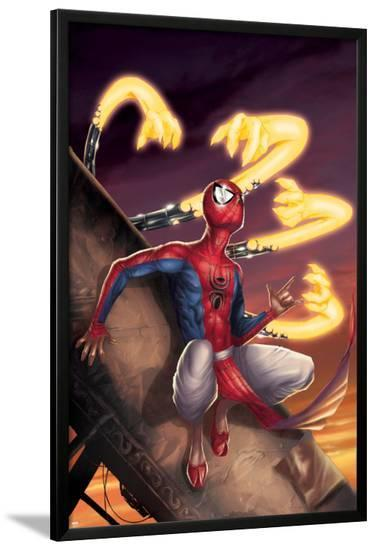 Spider-Man India No.3 Cover: Spider-Man-Jeevan J. Kang-Lamina Framed Poster