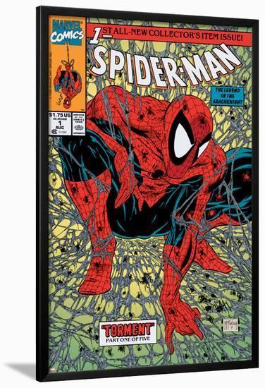 Spider-Man No.1 Cover: Spider-Man-Todd McFarlane-Lamina Framed Poster