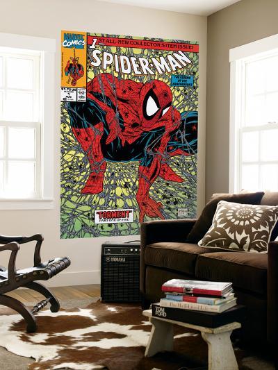 Spider-Man No.1 Cover: Spider-Man-Todd McFarlane-Wall Mural