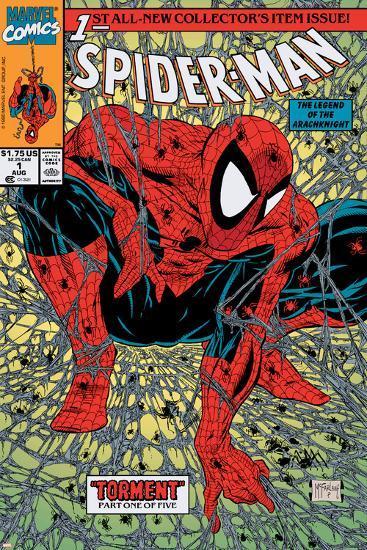 Spider-Man No.1 Cover: Spider-Man-Todd McFarlane-Art Print