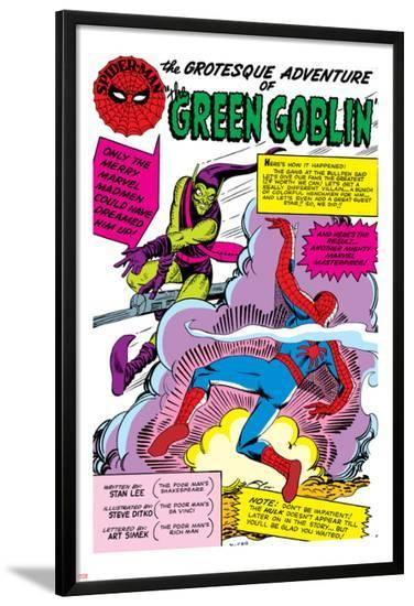 Spider-Man: Panel with Spider-Man's First Battle with Green Goblin--Lamina Framed Poster