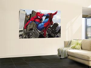 Spider-Man Swinging In the City