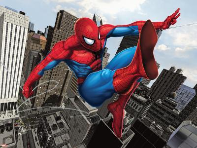 Spider-Man Swinging In the City--Poster
