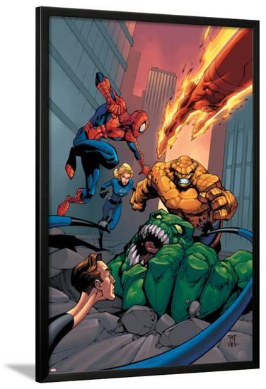 Spider-Man Team-Up Special No.1 Cover: Spider-Man-Shane Davis-Lamina Framed Poster