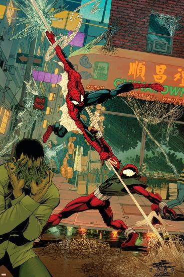 Spider-Man: The Clone Saga No.6 Cover: Spider-Man and Scarlet Spider-Chris Cross-Art Print