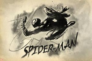 Spider-Man Vintage Watercolor