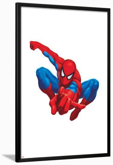 Spider Sense Spider-Man: Valentine, Spider-Man Posing--Lamina Framed Poster