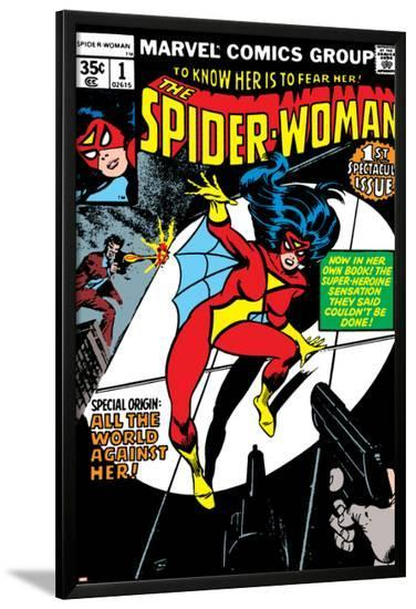 Spider-Woman No.1 Cover: Spider Woman-Carmine Infantino-Lamina Framed Poster