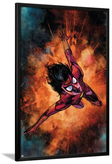 Spider-Woman No.3 Cover: Spider Woman-Alex Maleev-Lamina Framed Poster